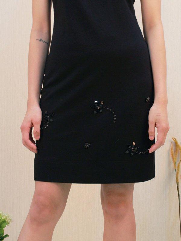 RIVET SLEEVELESS DRESS (BLACK)