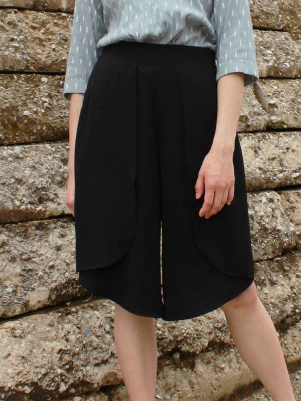 CHIFFON LAYER PANTS (BLACK)