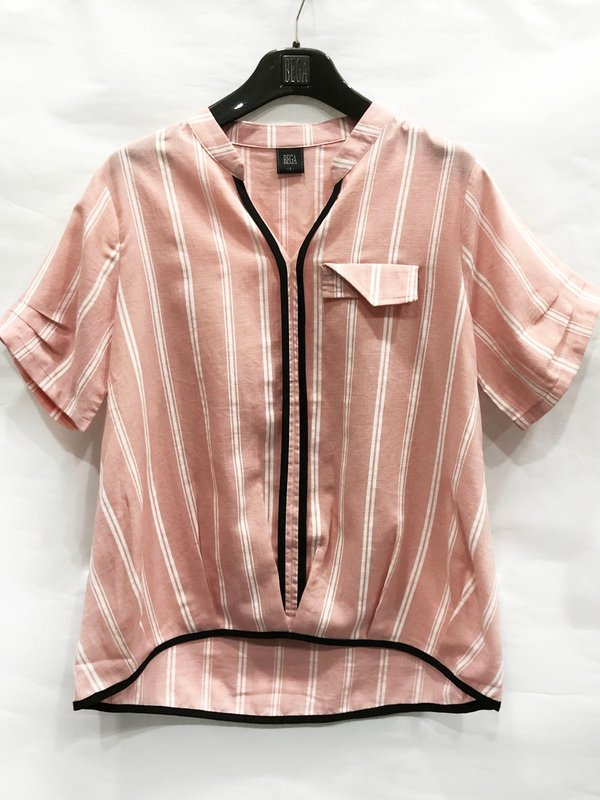 WHITE LINE BLOUSE (CHAMPAGNE PINK)