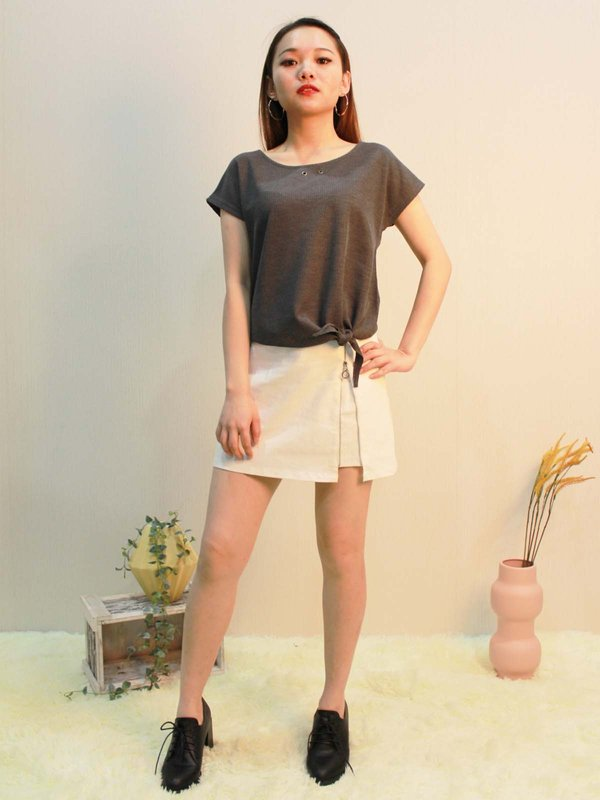 NOAH BASIC TOP  (DARK GREY)
