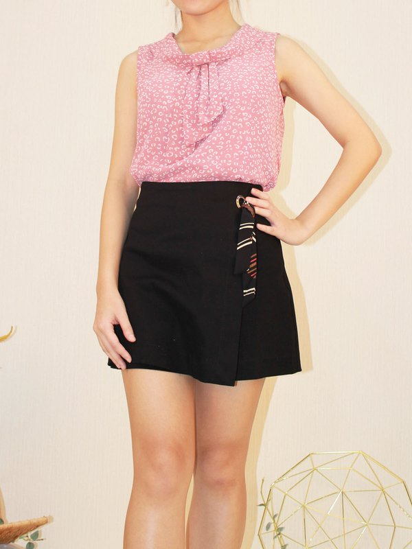 FLORENCE PRINT BLOUSE (CHAMPAGNE PINK)