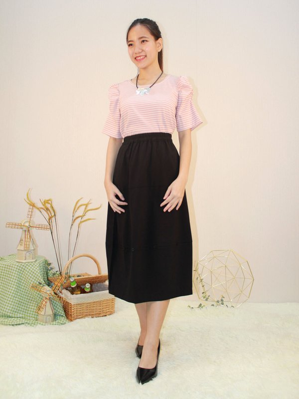 BUTTERFLY SLEEVE TOP (CHAMPAGNE PINK)