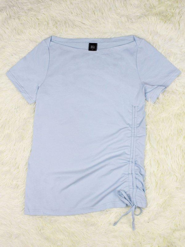 BASIC TIE UP SHIRT (LIGHT BLUE)