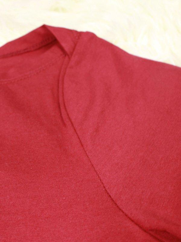 BASIC TIE UP SHIRT (DARK RED)