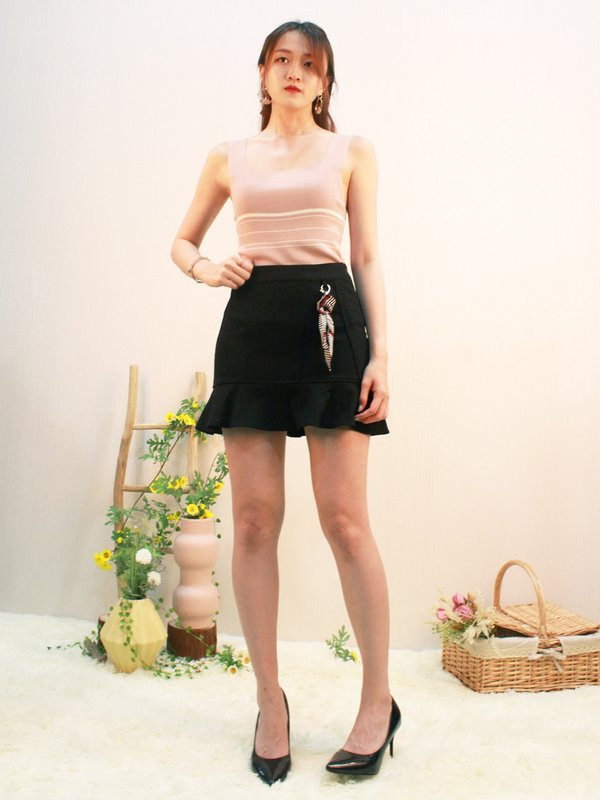 HARRIET SLEEVELESS KNIT TOP (CHAMPAGNE PINK)