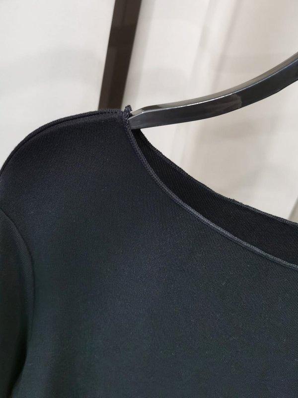 BOAT NECK SOFT SHIRT (BLACK)