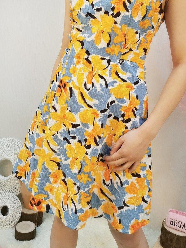 SUNSHINE SLEEVELESS DRESS (ORANGE)