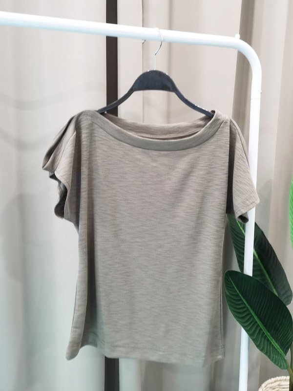 BOAT NECK SHIRT (ARMY GREEN)