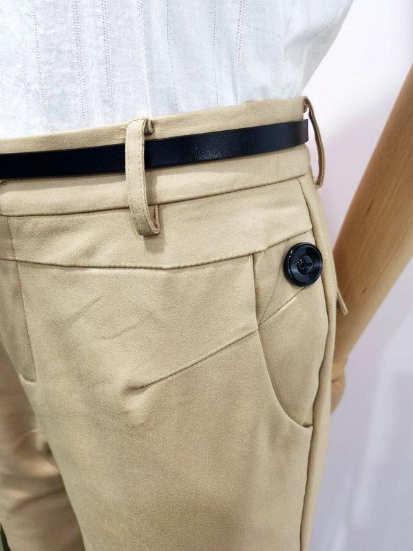 BUTTON BASIC PANTS (BEIGE)